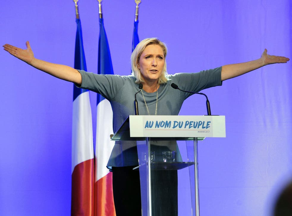 Marine Le Pen has reiterated her call to take France out of the euro