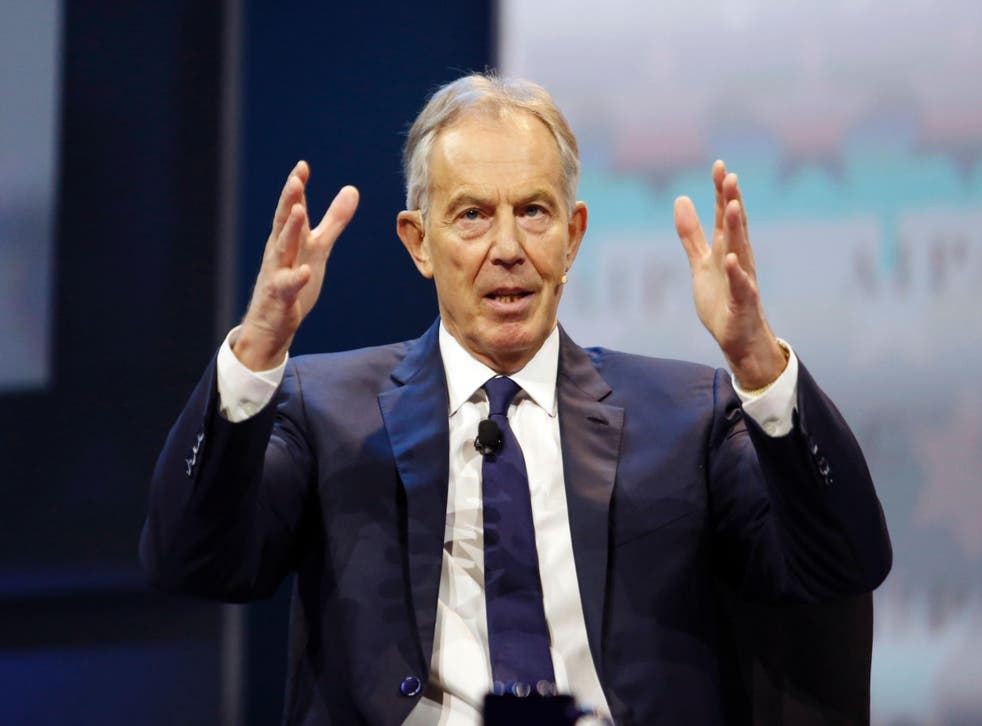 'Ignoring the Brexit issue or trying to play it down as one issue out of many just won't work,' Mr Blair said