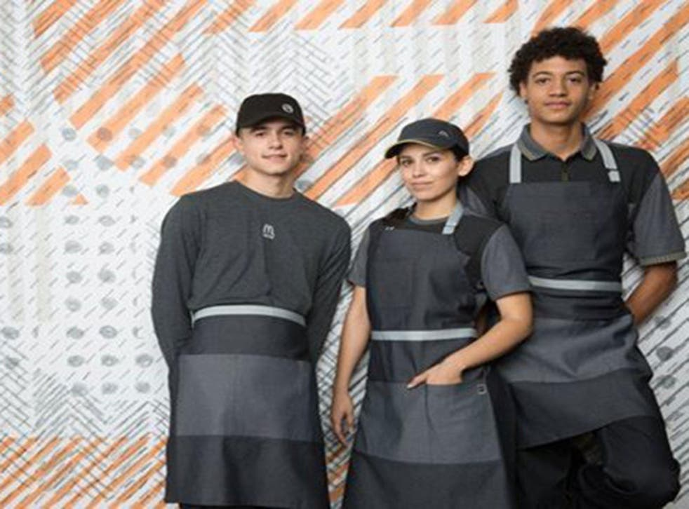 McDonald's insisted that more than 70 per cent of restaurant employees surveyed by the company feel that the new uniforms provide a modern image