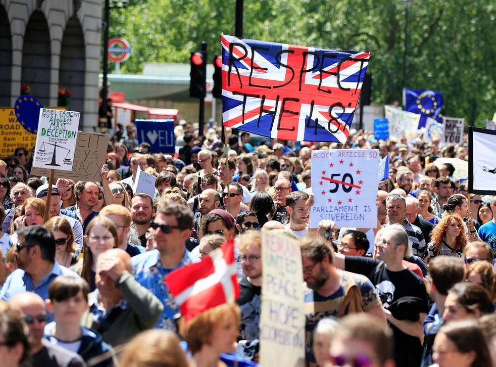45 per cent of the 1,590 surveyed said they thought Brexit was the wrong decision
