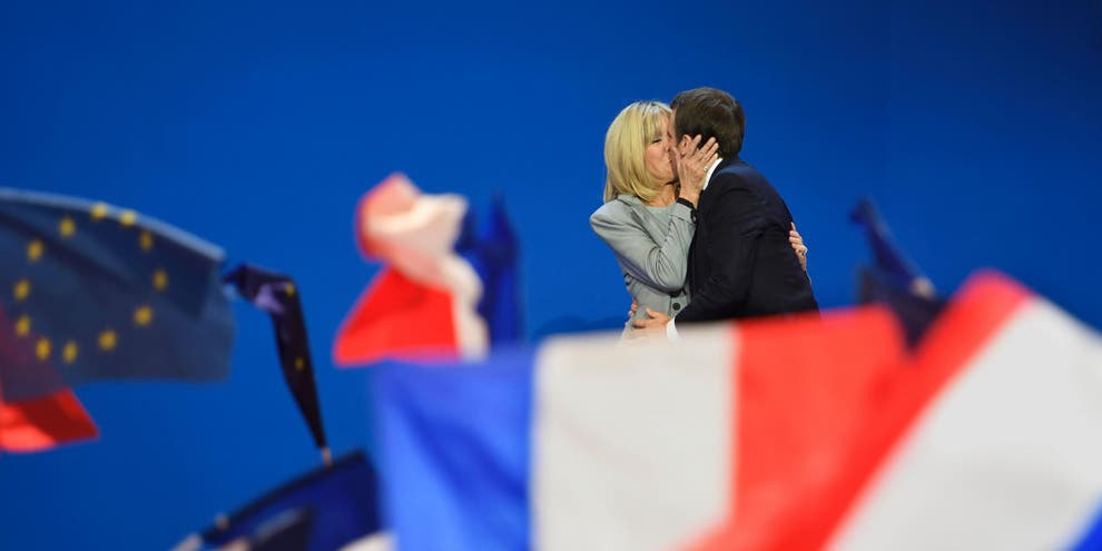 The age difference that's the same as Macron and his wife ...