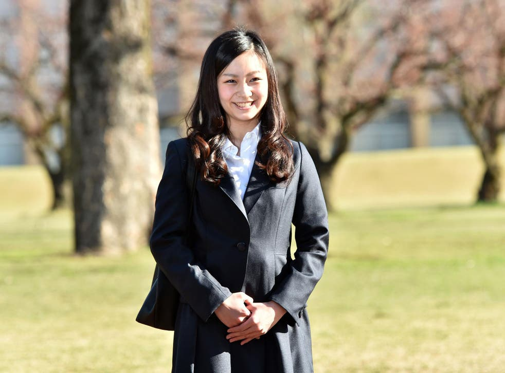 Japanese Princess Kako arrives at the International Christian University in Tokyo