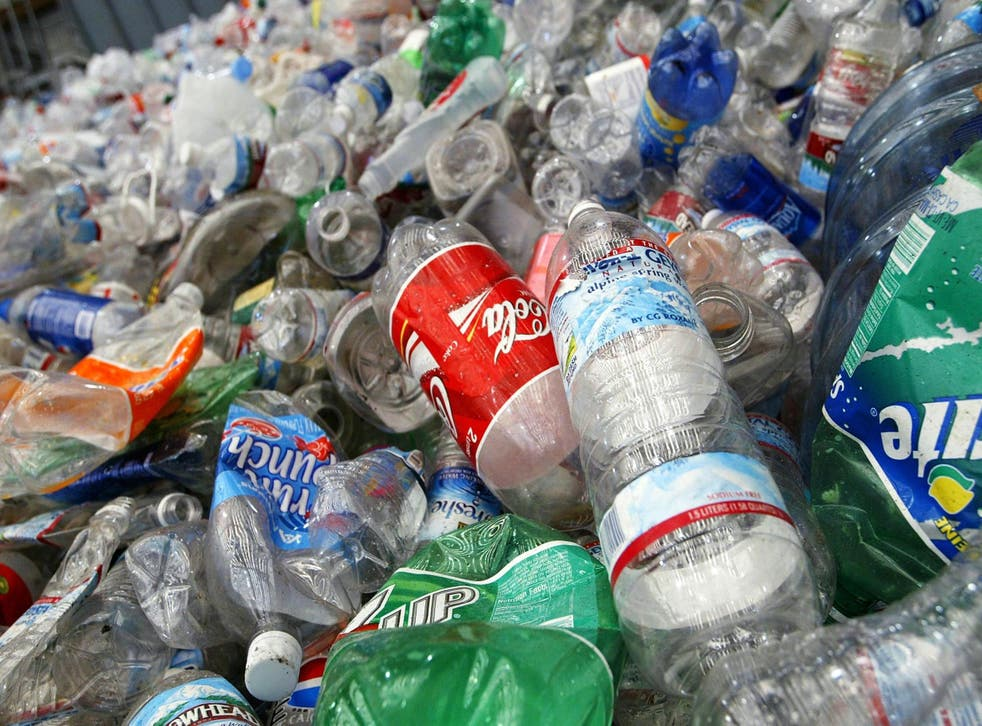 A sea of plastic bottles destined for recycling