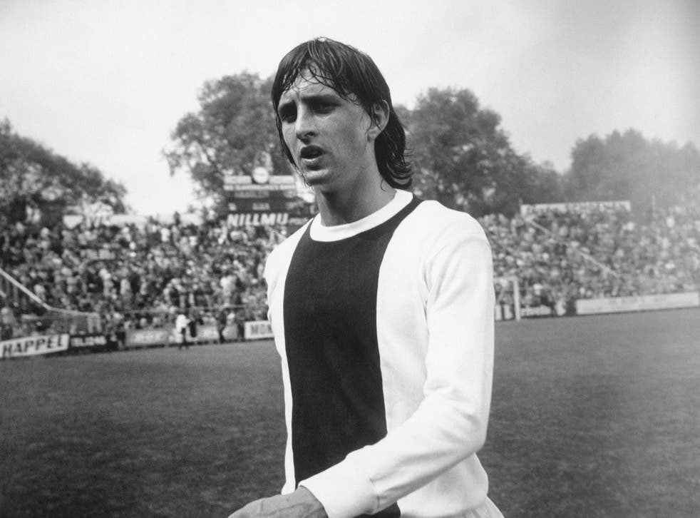 Johan Cruyff, pictured playing for Ajax in 1971