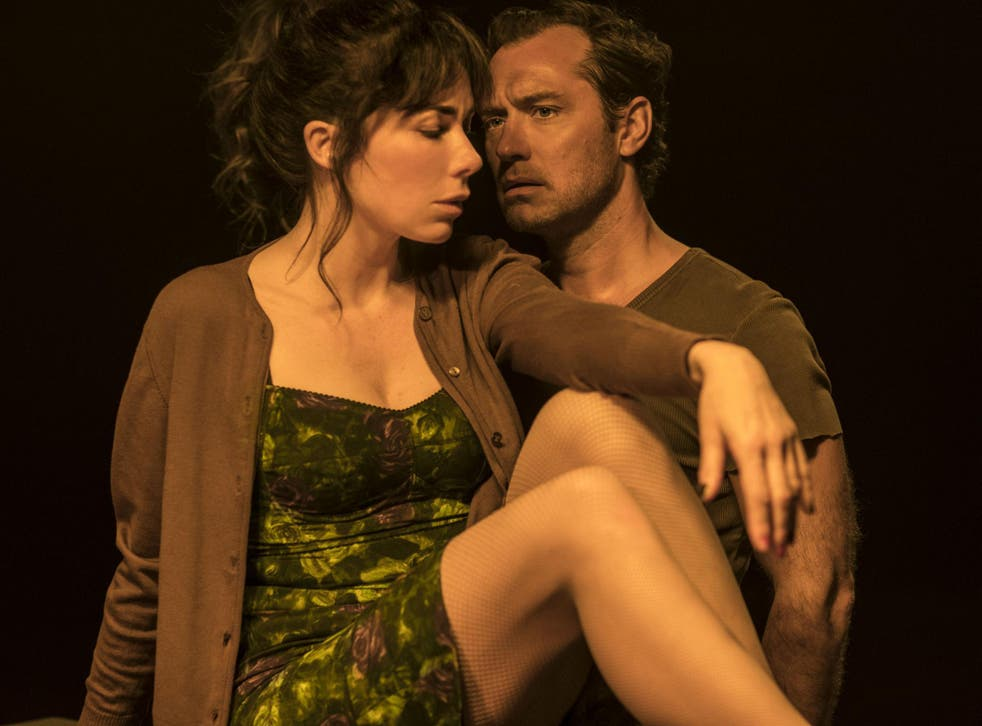Jude Law as Gino and Halina Reijn as Hanna in Ivo van Hove's production of 'Obsession' at the Barbican