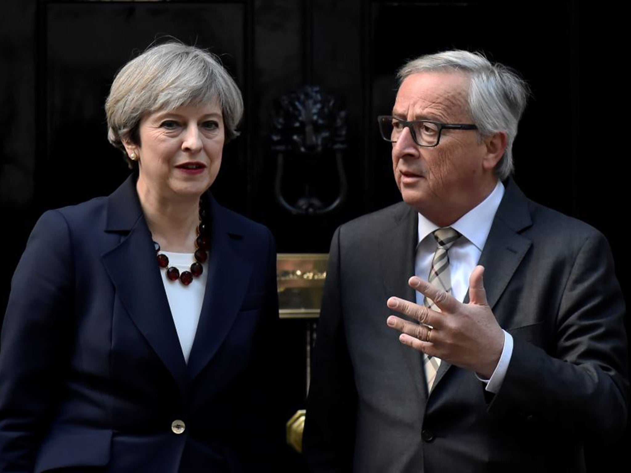 Brexit: Theresa May tells EU she wants 'deep and special relationship' after meeting with Juncker and Barnier