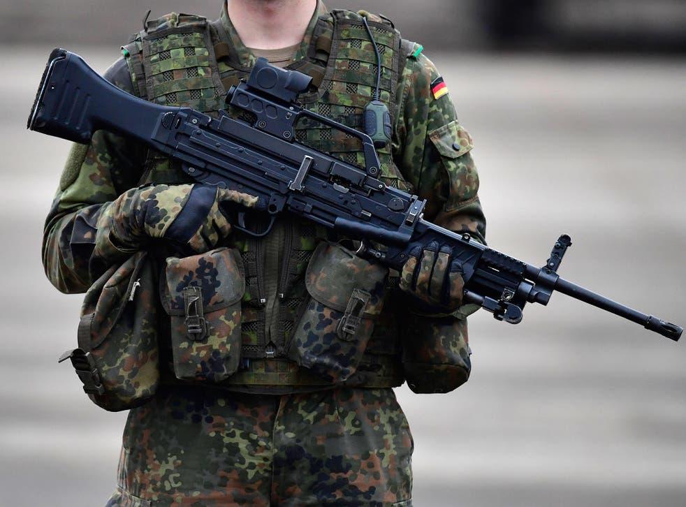The Bundeswehr lieutenant allegedly stashed a gun at Vienna airport