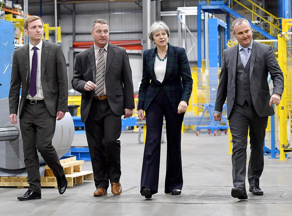 Theresa May has campaigned in workplaces – but has not met workers, it is claimed