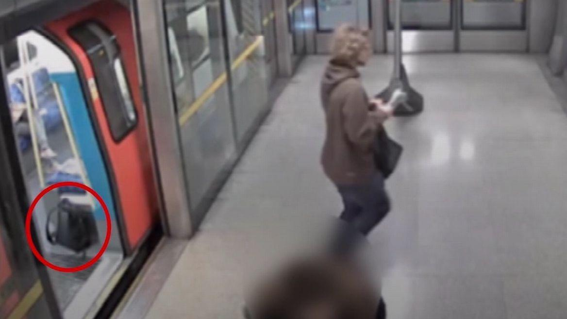 Moment teen 'left bomb on tube train' caught on CCTV