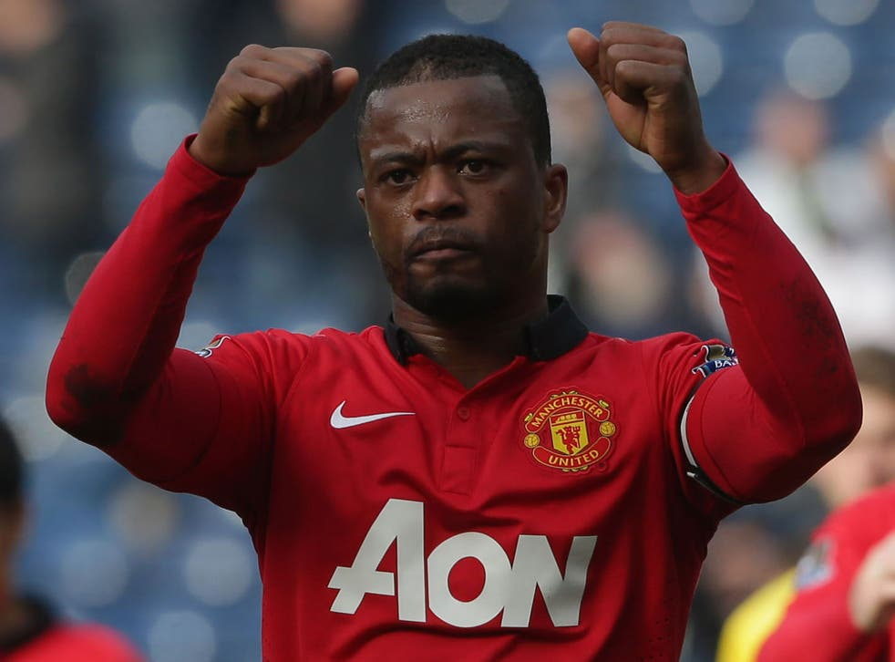 Evra during his time at United