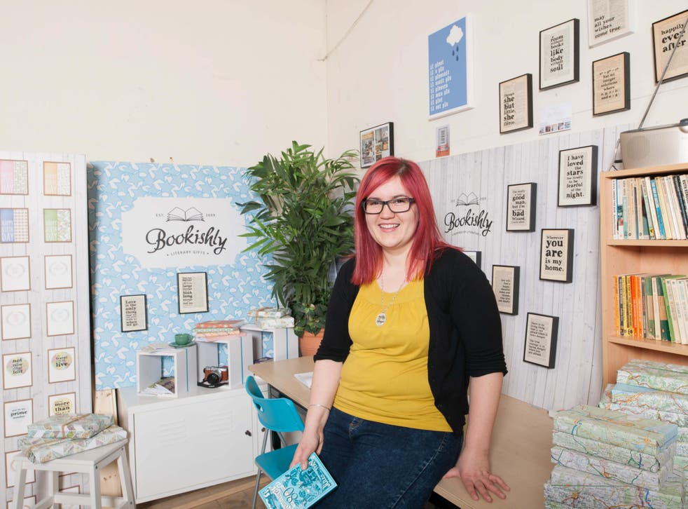 Brisk trade: Louise Verity's success selling framed prints led to her to start up her Etsy shop BookishlyUK