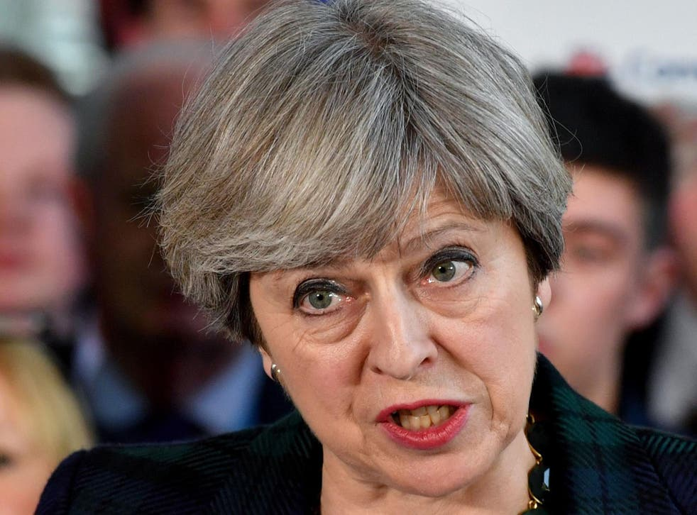 """Theresa May has spoken about """"unsustainable levels"""" of immigration"""