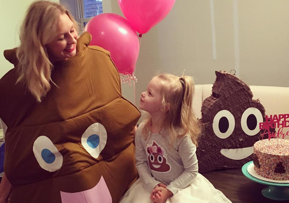 Three Year Old Girl Requests Poo Themed Party So Her Parents Throw One