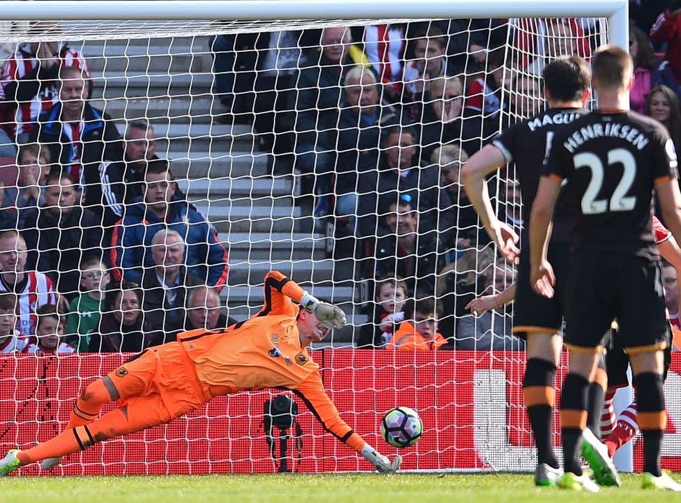 Eldin Jakupovic's penalty save confirmed Sunderland's relegation after their defeat by Bournemouth