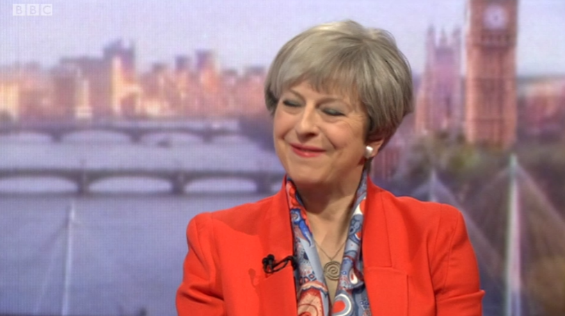 Theresa May was asked not to use soundbites. She lasted just 30 seconds