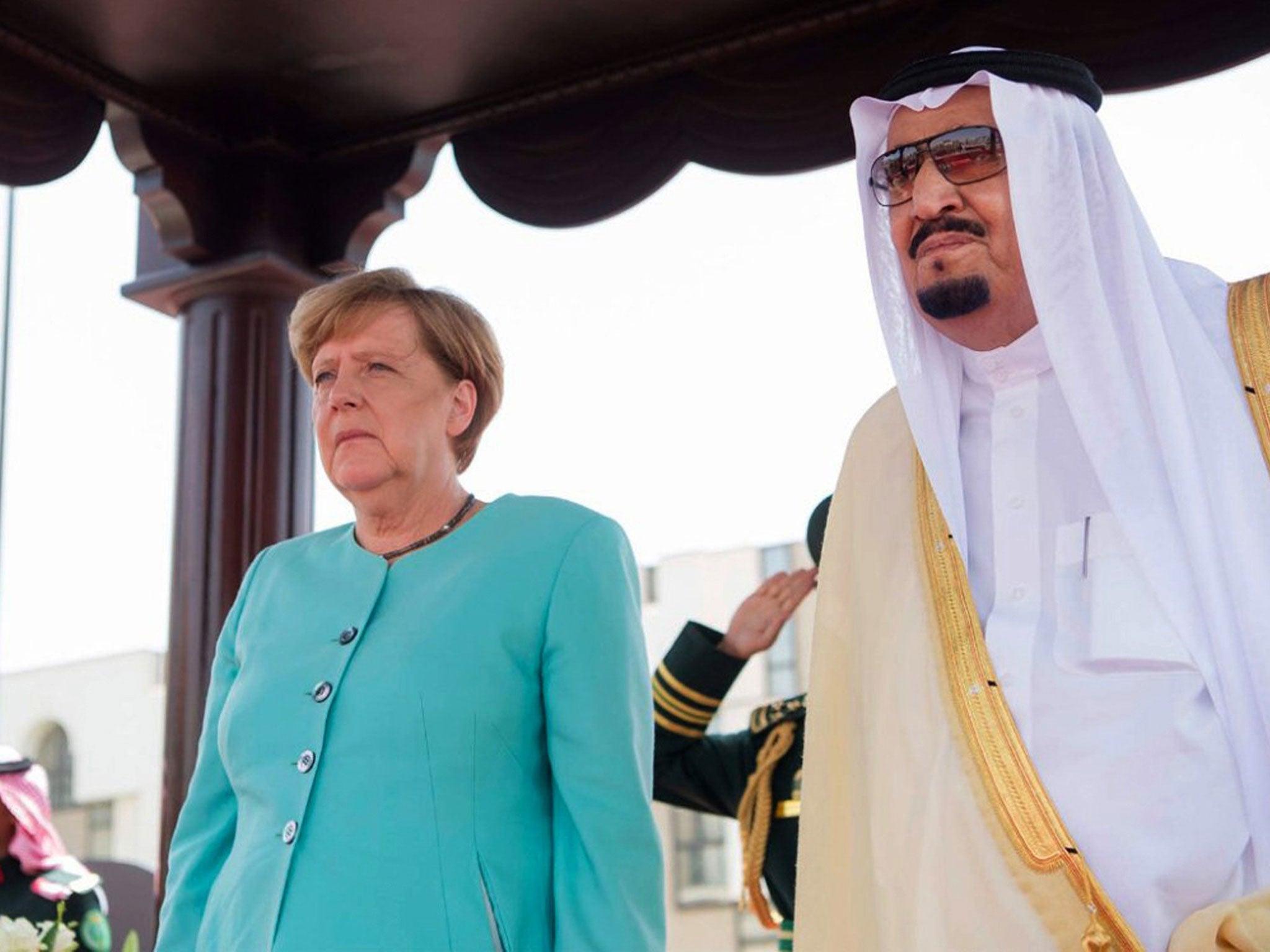 Angela Merkel Saudi Arabien