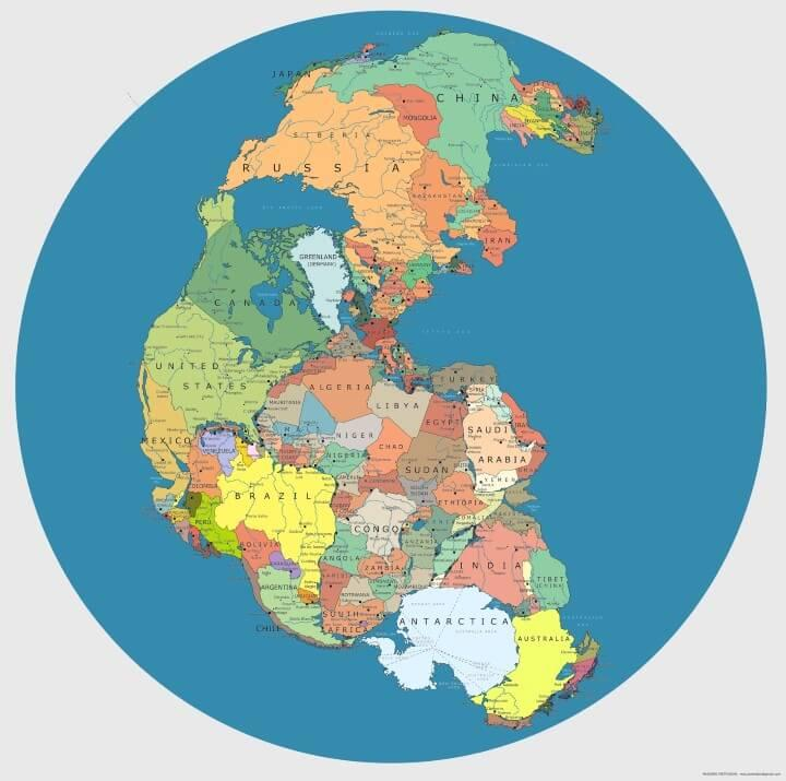 World Map 2000 Bc.This Is What The World Looked Like 300 Million Years Ago Indy100