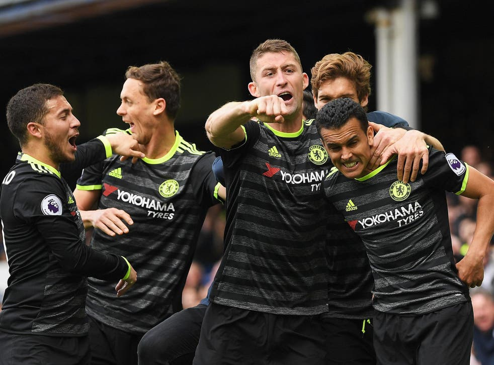 Chelsea won at Goodison Park to take a gigantic step towards the title
