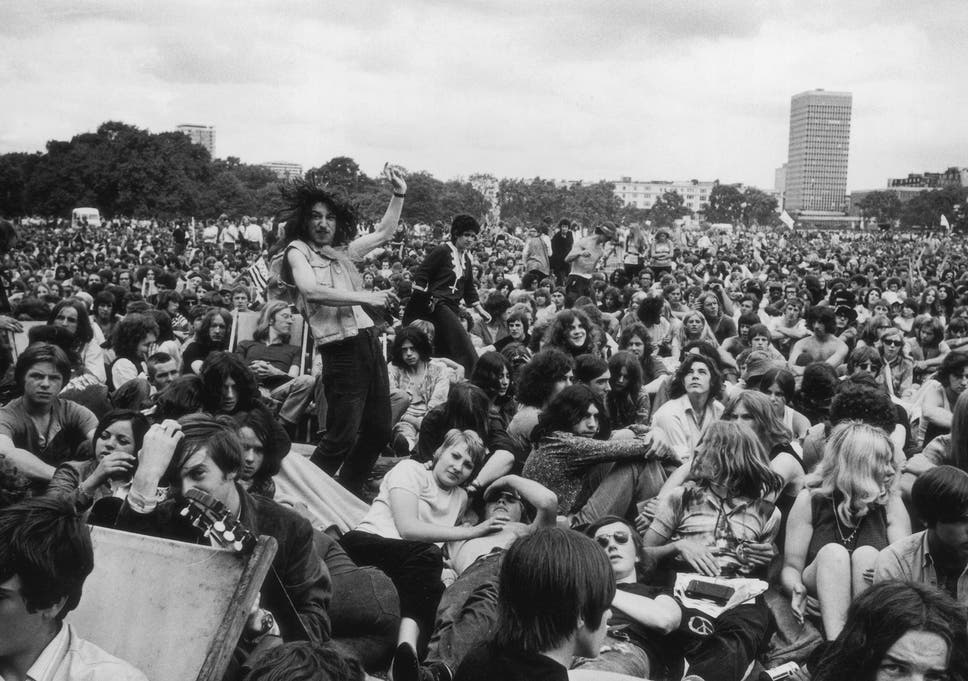 Hippy Shakes Hyde Park At The Height Of Flower Power But How Much