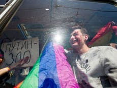 LGBT activists demonstrating against Chechnya persecution arrested