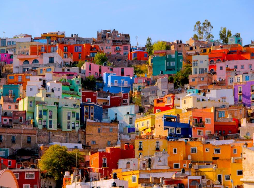 Coloured Houses in Guanajuato, Mexico/