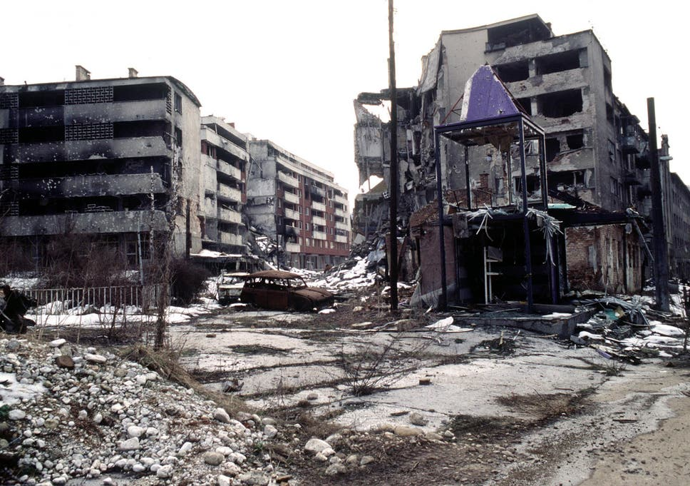 Sarajevo was besieged for four years during the Bosnian War, with many districts left in ruins