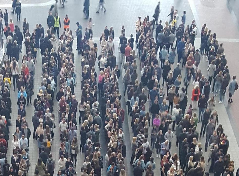 Picture: People queuing for Ed Sheeran's concert at the O2/