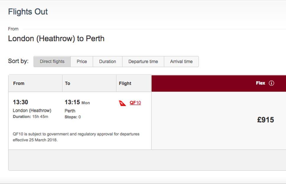 Qantas London To Perth The Uks Longest Flight Just Got Longer