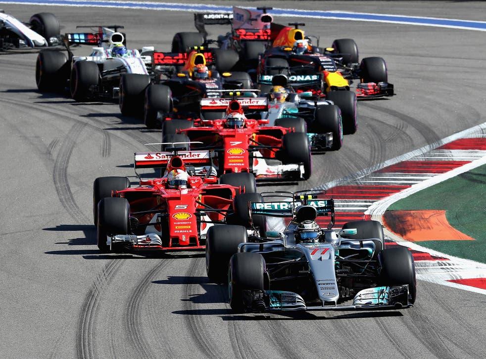 Valterri Bottas' pass on Sebastian Vettel was the first on-track overtake for the lead this season