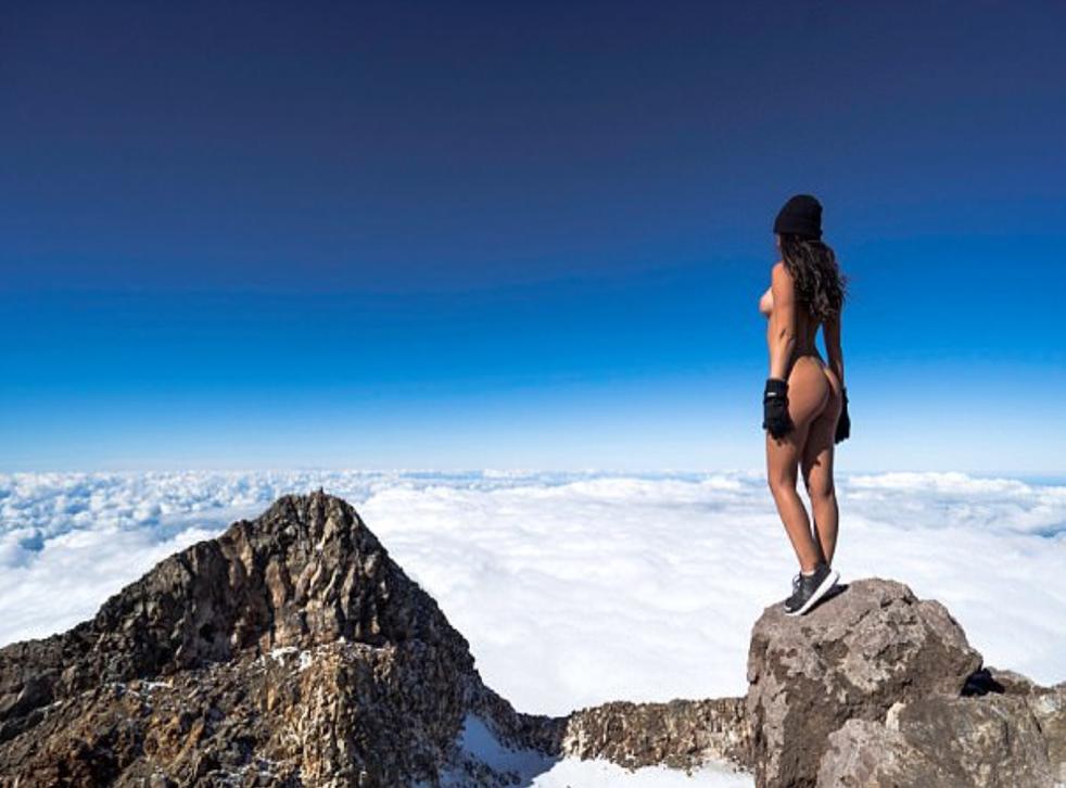 Jaylene Cook took a naked photo on a sacred volcano