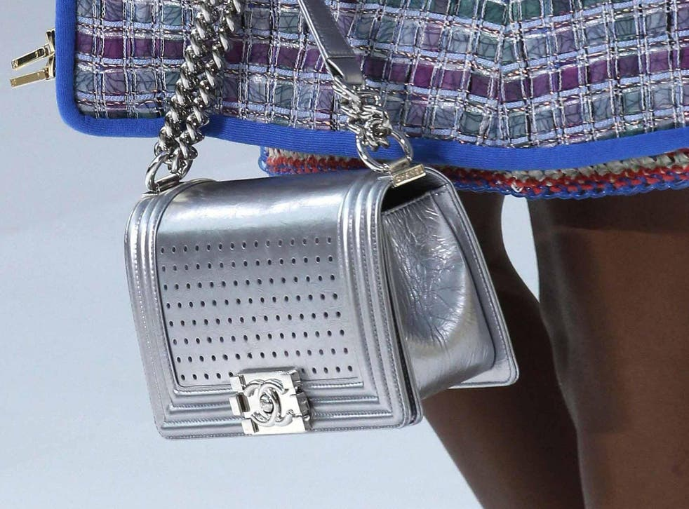 Chanel offered up its classic styles in metallic silver