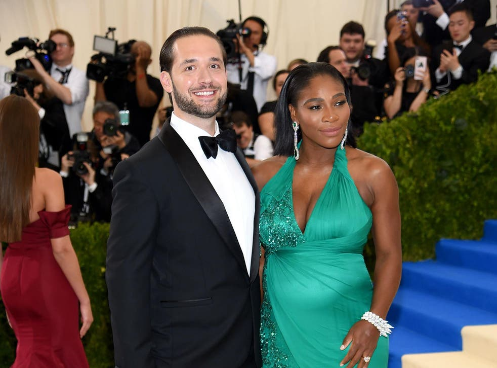 Ohanian and Williams posed for a photo at the annual gala which is held at the Metropolitan Museum of Art