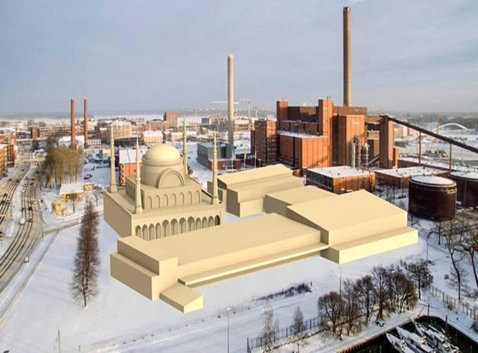Artist's impression of the 'Oasis complex' which would occupy an ex-industrial site in Helsinki, Finland