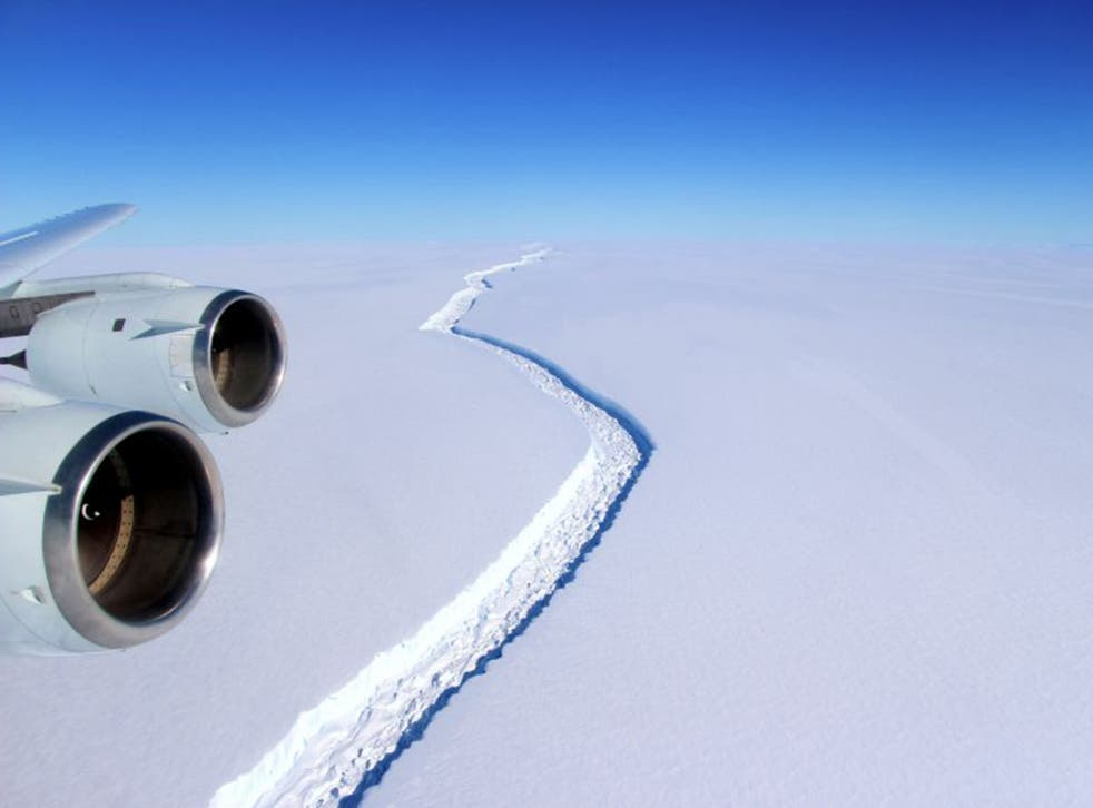 One of Antarctica's largest ice shelves is breaking apart at an alarming, according to researchers