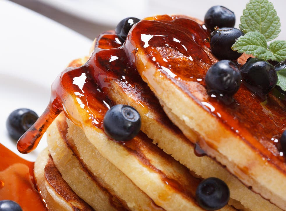 Pancakes covered in syrup are a poor choice for breakfast
