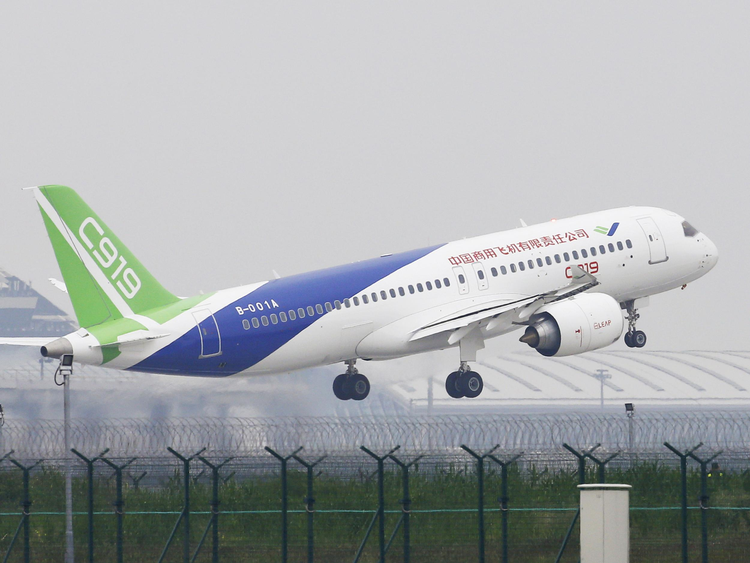 China's first domestically manufactured passenger jet makes maiden flight