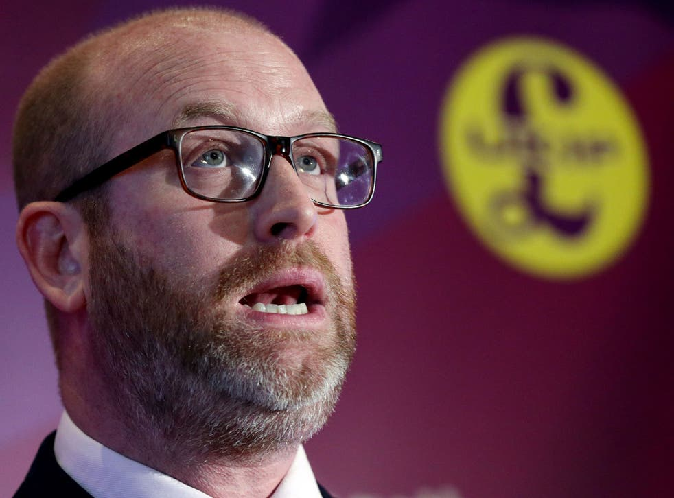 Ukip leader Paul Nuttall speaks to assembled media at the launch of the party's election campaign in London in April