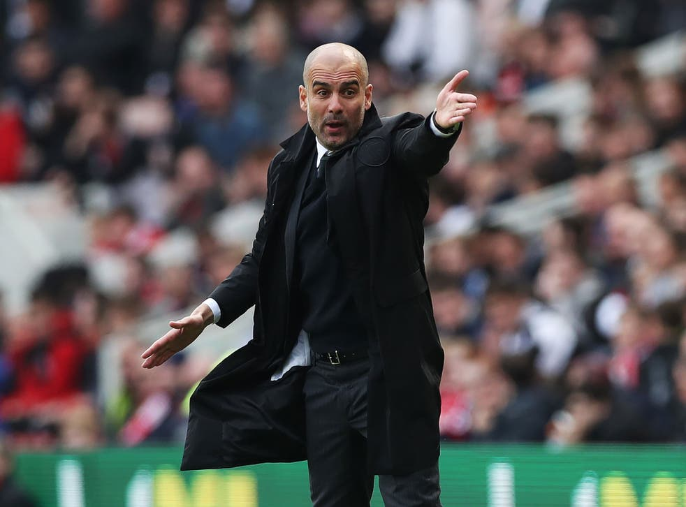 Guardiola said Neville was 'lucky' to play for Manchester United