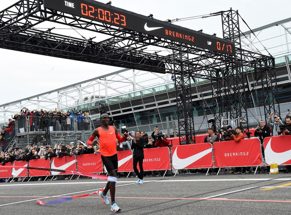 Olympic champion Eliud Kipchoge failed to break the two-hour marathon barrier by just 25 seconds