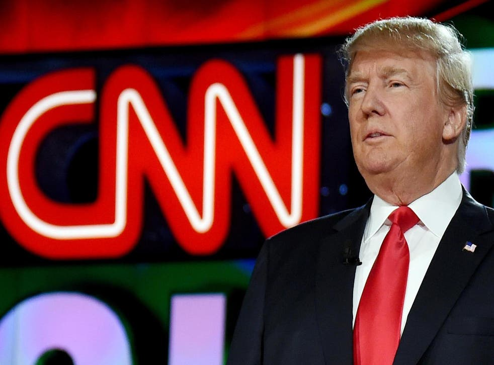 Picture: Republican presidential candidate Donald Trump is introduced during the CNN presidential debate at The Venetian Las Vegas on December 15, 2015 in Las Vegas, Nevada/