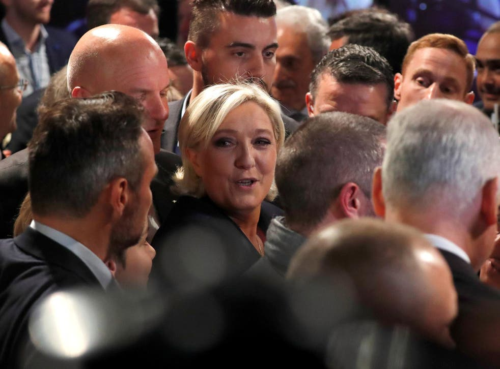 'She made giant steps,' one supporter said of the defeated Front National leader