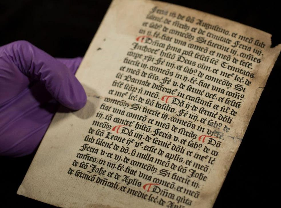 The pages were instantly recognisable due to black typeface and hand-painted red paragraph marks