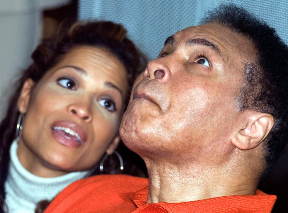 Rasheda Ali with her father, Muhammad, in 2005