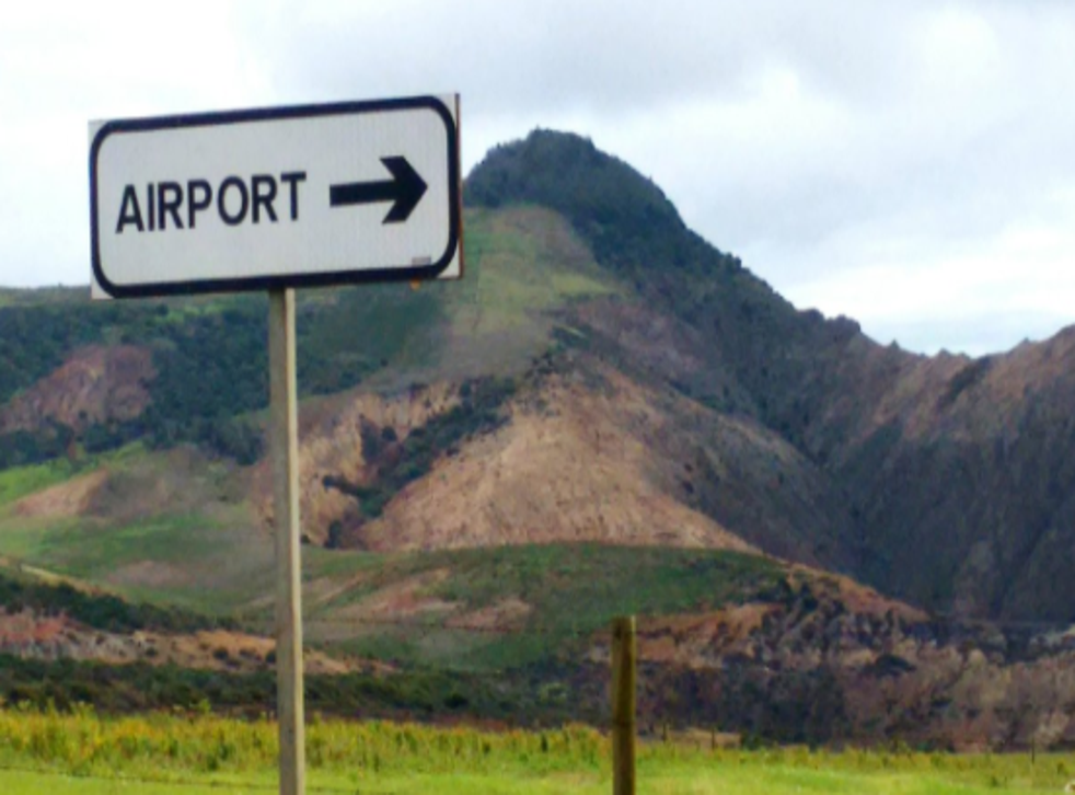 Departing soon? Sign to St Helena airport