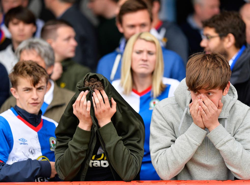 Blackburn Rovers are staring into the abyss after relegation to League One