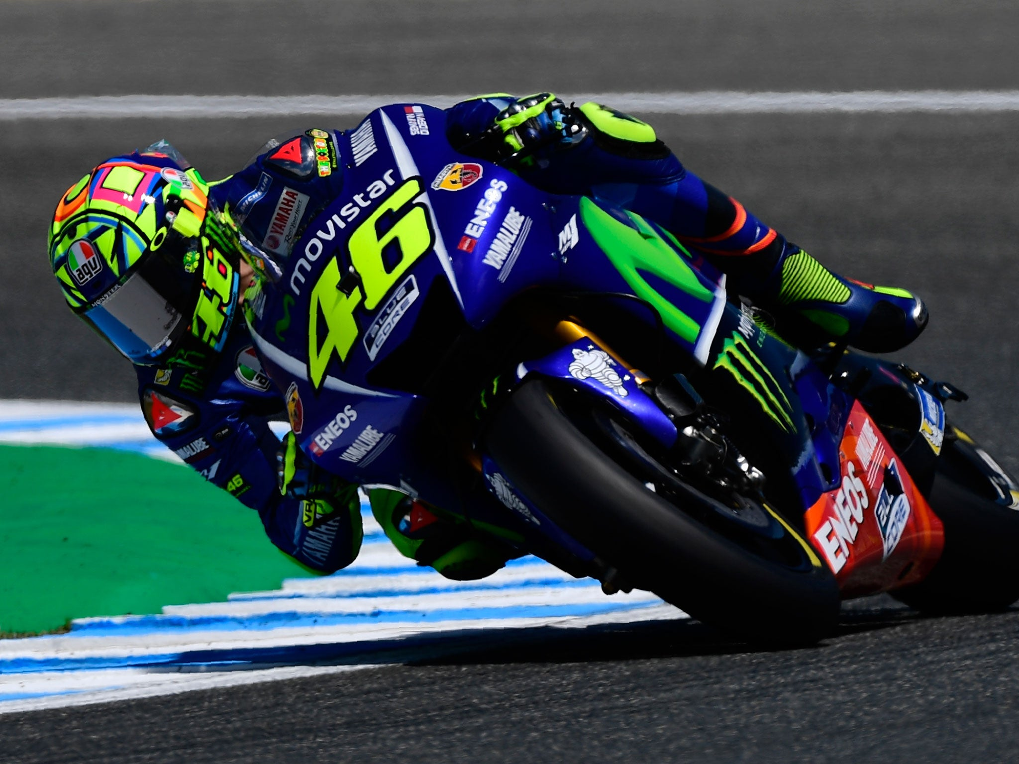 MotoGP: Valentino Rossi 'lucky' to see chequered flag in ...