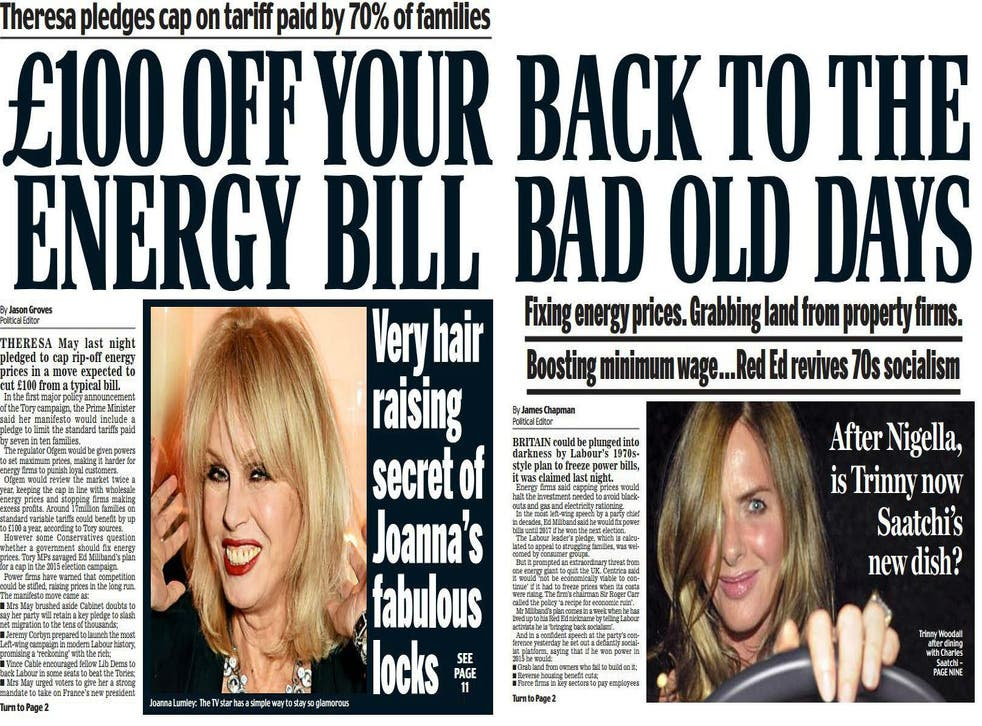 right: Daily Mail front page 9 June 2016, left: Daily Mail front page September 24 2013. Picture: