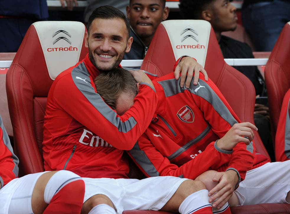 Lucas Perez has spent most of his time at Arsenal on the bench
