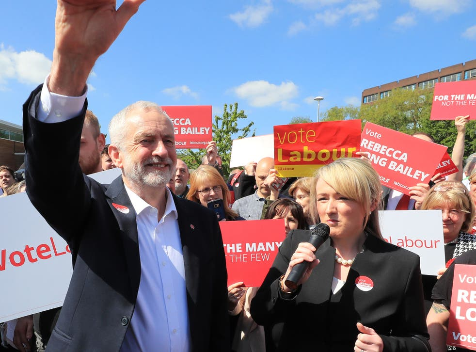 The Labour leader with Rebecca Long-Bailey, shadow Business Secretary