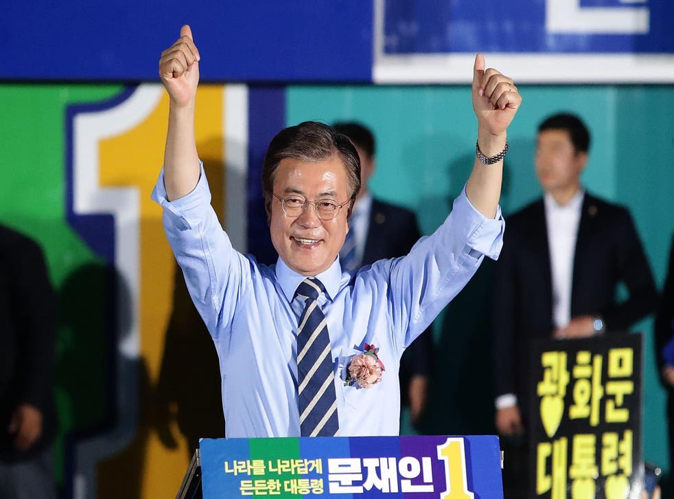 Trump card: Moon Jae-in is expected to be assertive in dealing with the US president